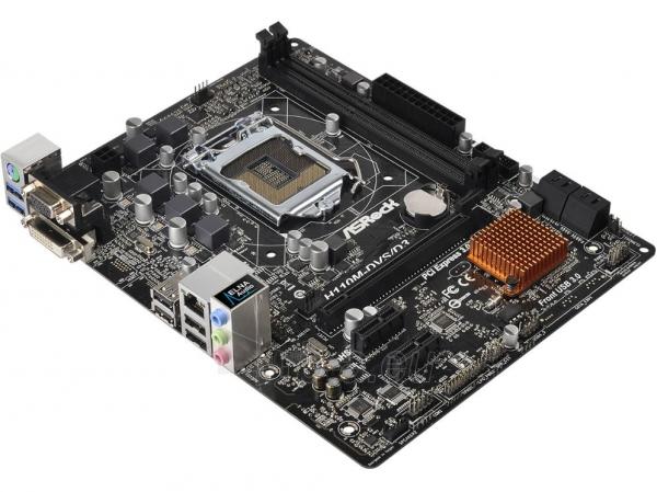 Pagrindinė plokštė ASROCK H110M-DVS/D3 LGA1151 mATX Paveikslėlis 1 iš 1 310820017330