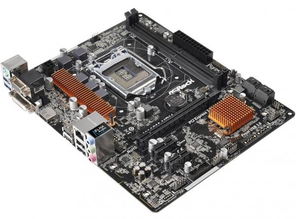Pagrindinė plokštė ASROCK H110M-HDV LGA1151 mATX Paveikslėlis 1 iš 1 310820017329