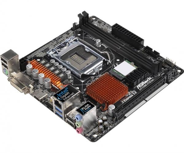 Pagrindinė plokštė ASRock H110M-ITX/AC, H110, DualDDR4-2133, SATA3, M.2, HDMI, DVI, mITX Paveikslėlis 3 iš 5 310820017547