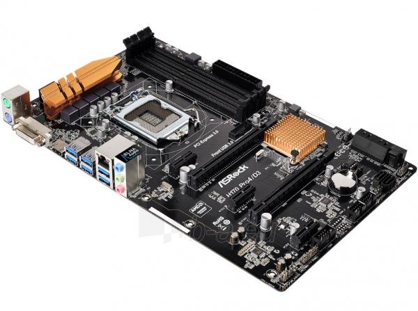 Pagrindinė plokštė ASROCK H170 Pro4/D3 LGA1151 ATX Paveikslėlis 1 iš 1 310820017267