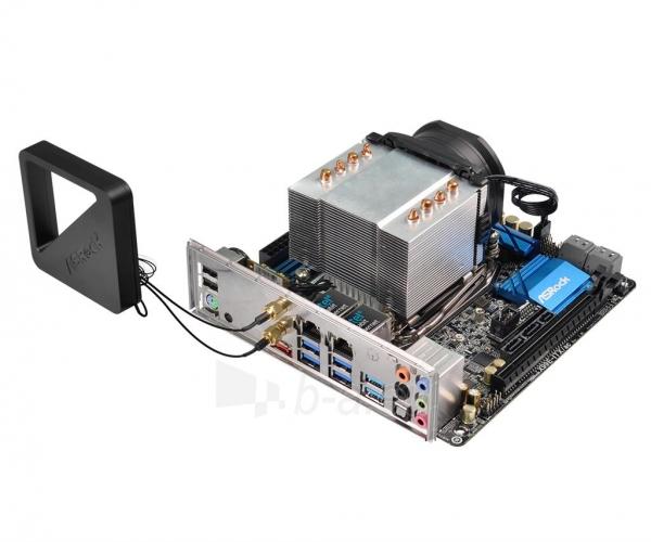Pagrindinė plokštė ASRock X99E-ITX/AC, X99, DualDDR4-2133, SATA3, M.2, RAID, USB 3.1, mITX Paveikslėlis 2 iš 5 310820017460