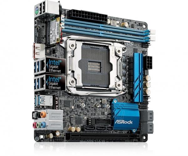 Pagrindinė plokštė ASRock X99E-ITX/AC, X99, DualDDR4-2133, SATA3, M.2, RAID, USB 3.1, mITX Paveikslėlis 4 iš 5 310820017460