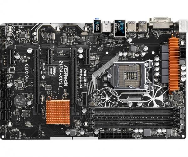 Pagrindinė plokštė ASRock Z170A-X1/3.1, Z170, DualDDR4-2133, SATA3, RAID, DVI, USB 3.1, ATX Paveikslėlis 2 iš 5 310820017446