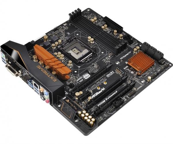 Pagrindinė plokštė ASRock Z170M EXTREME4, Z170, DualDDR4-2133, SATA3, M.2, HDMI, DVI, mATX Paveikslėlis 3 iš 5 310820017468