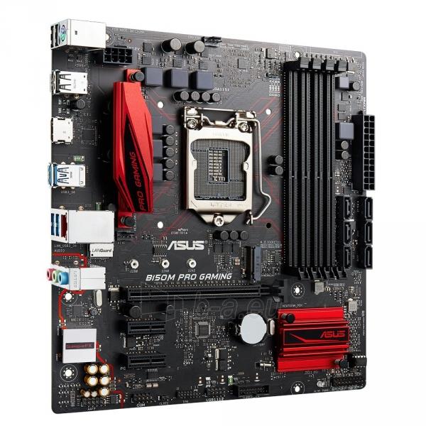 Pagrindinė plokštė ASUS B150M PRO GAMING LGA1151 microATX Paveikslėlis 1 iš 1 310820017530