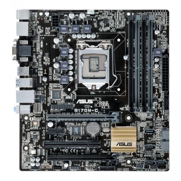 Pagrindinė plokštė ASUS Q170M-C, Q170, DDR4-2133, SATA3, DVI, D-Sub, DP, mATX Paveikslėlis 3 iš 5 310820017319