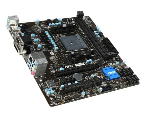 Pagrindinė plokštė MSI A88XM-E35 V2 AMD FM2+ mATX DDR3 MB Paveikslėlis 1 iš 1 310820017229