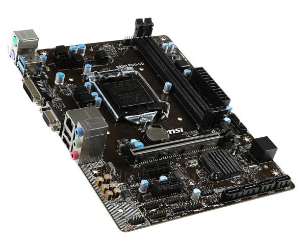 Pagrindinė plokštė MSI B85M PRO-VD LGA1150 mATX MB Paveikslėlis 1 iš 1 310820017347