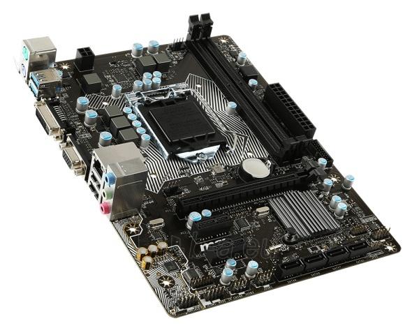 Pagrindinė plokštė MSI H110M PRO-VD D3 LGA1151 mATX Paveikslėlis 1 iš 1 310820017279