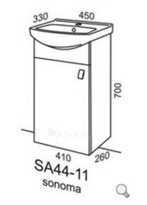 Pakabinama vonios spintelė Riva SA44-11 Paveikslėlis 2 iš 3 310820055982