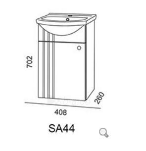 Pakabinama vonios spintelė Riva SA44 Paveikslėlis 2 iš 2 310820053968
