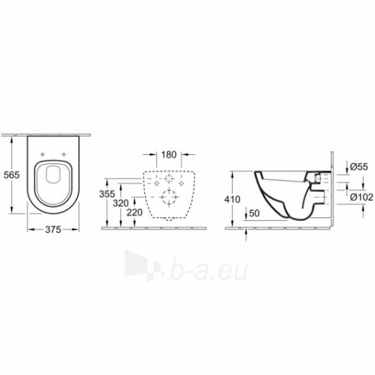 Hanging toilet Subway Paveikslėlis 1 iš 3 270713000766