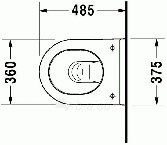 Pakabinamas unitazas Duravit Starck3 Compact Paveikslėlis 2 iš 5 310820254310