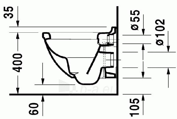 Pakabinamas unitazas Duravit Starck3 Compact Paveikslėlis 3 iš 5 310820254310