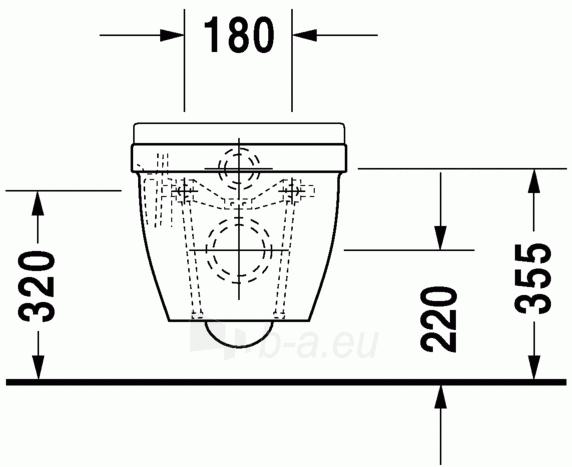 Pakabinamas unitazas Duravit Starck3 Compact Paveikslėlis 4 iš 5 310820254310
