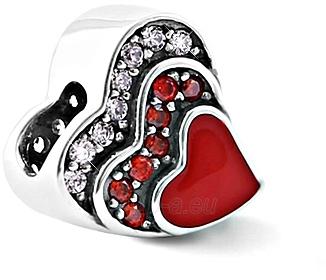 Pakabukas Infinity Love Silver heart bead HE-921-D Paveikslėlis 1 iš 1 310820204972