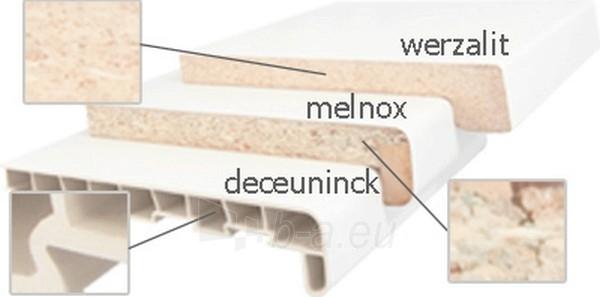 Chipboard window sills MELNOX 19x300x4100 mm, oak color, sawn Paveikslėlis 2 iš 2 237950200003