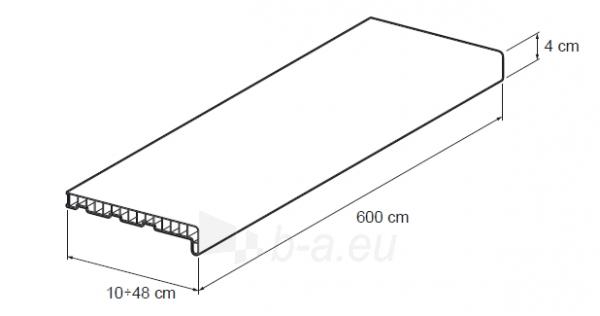 Palodze PLAST 35 CM WHITE 6M VOX Paveikslėlis 2 iš 2 237725000461