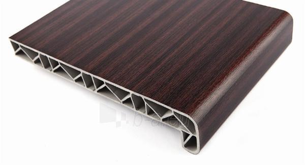 PVC windowsill 300x6000 mm, mahogany color Paveikslėlis 1 iš 1 237950100080
