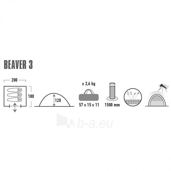 Palapinė High Peak Beaver 3 10322 Paveikslėlis 6 iš 6 310820216454