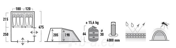 Palapinė High Peak Benito 5 11807 Paveikslėlis 3 iš 4 310820179984