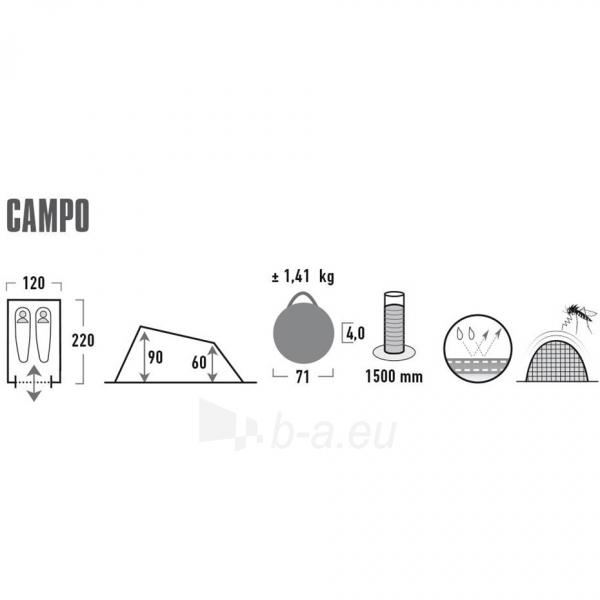 Palapinė High Peak Campo 10271 Paveikslėlis 7 iš 7 310820216462