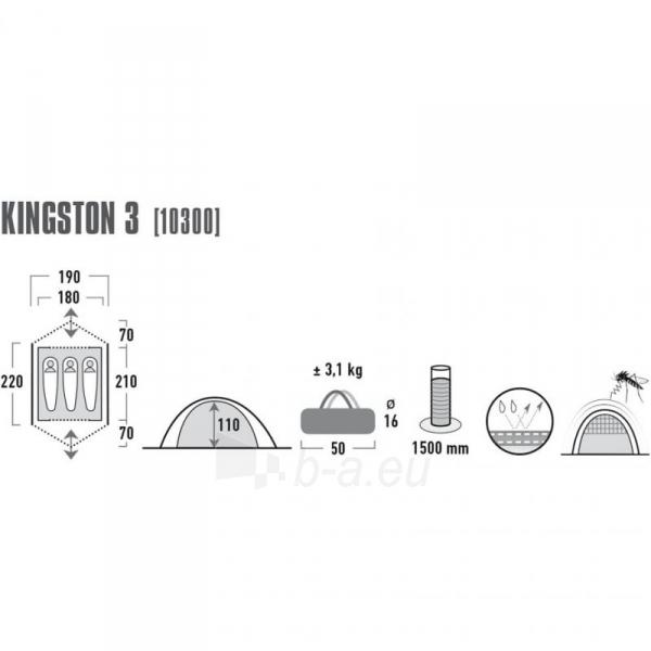Palapinė High Peak Kingston-3 mėlyna-pilka 10300 Paveikslėlis 2 iš 3 310820199275