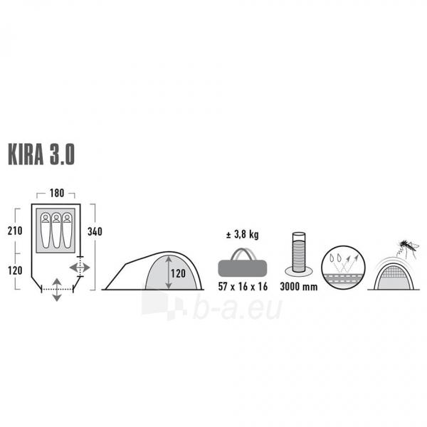 Palapinė High Peak Kira 3 10370 Paveikslėlis 2 iš 7 310820216441