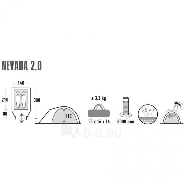Palapinė High Peak Nevada 2 10196 Paveikslėlis 8 iš 8 310820216452