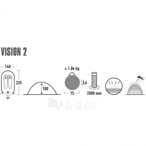 Palapinė High Peak Vision 2 10282 Paveikslėlis 7 iš 7 310820216460