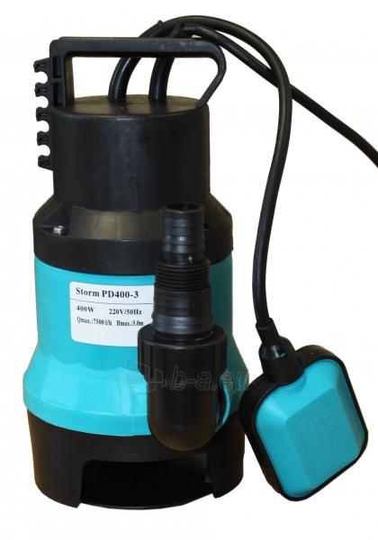 Panardinamas elektrinis vandens siurblys nešvariam vandeniui PD 400-3 Paveikslėlis 1 iš 2 270832000158