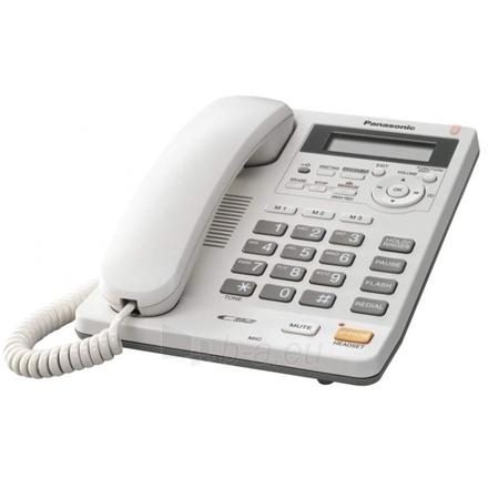 Telefonas Panasonic KX-TS620FXW Corded phone, White Paveikslėlis 2 iš 2 250233000298