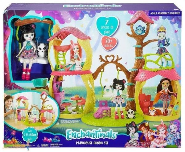 Pandos žaislinis namas FNM92 Enchantimals Playhouse Panda Set Paveikslėlis 1 iš 6 310820119002