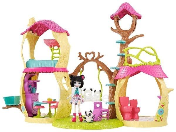 Pandos žaislinis namas FNM92 Enchantimals Playhouse Panda Set Paveikslėlis 2 iš 6 310820119002