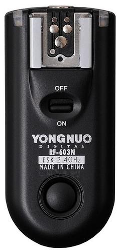 Papildomas radijo siųstuvas/imtuvas YongNuo RF-603N Paveikslėlis 1 iš 1 30025400131