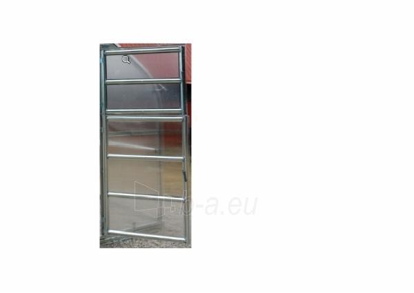 Durys papildomos gale 80x196cm šiltnamiui Standart Klasika su 4mm polikarbonato danga Paveikslėlis 1 iš 2 238700000206