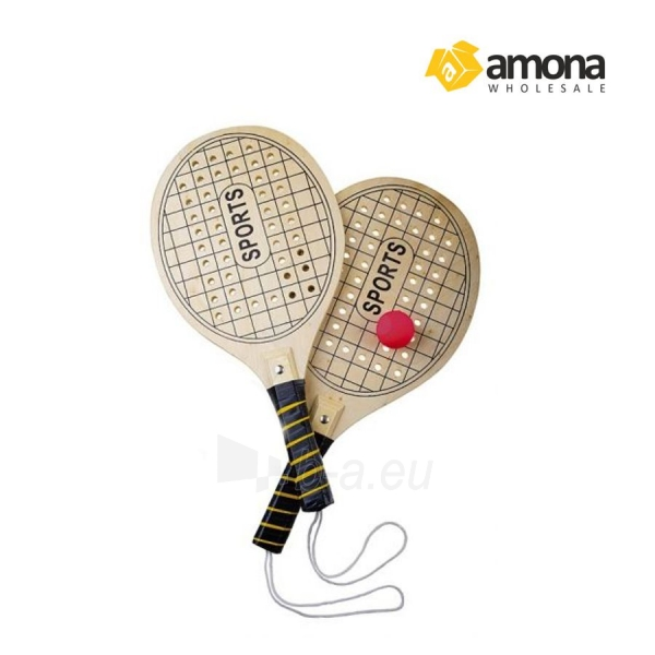 Paplūdimio teniso raketės medinės su kamuoliuku 8523 Paveikslėlis 1 iš 1 310820037183