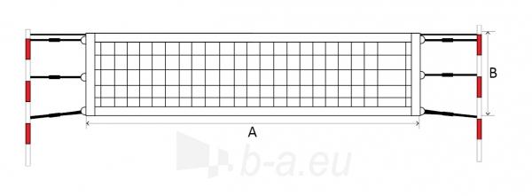 Paplūdimio teniso tinklas SPORT 9,5x1m PE 45x45x3mm, 6 Paveikslėlis 1 iš 1 310820040217