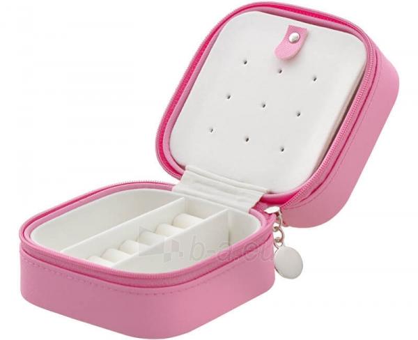 Papuošalų dėžutė Beneto Bright pink travel jewelry box Paveikslėlis 1 iš 4 310820204569