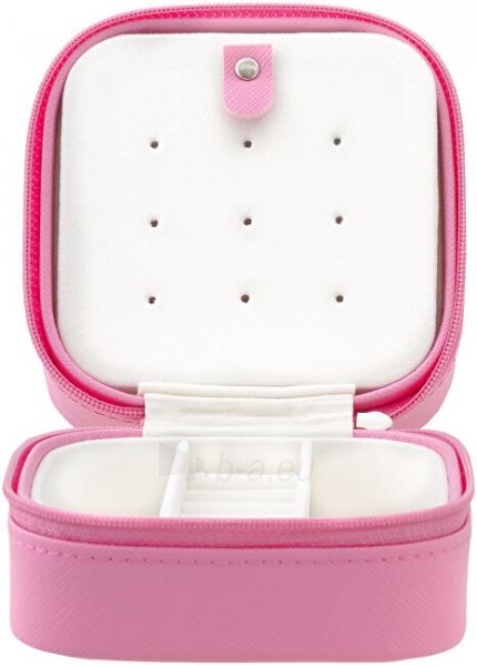 Papuošalų dėžutė Beneto Bright pink travel jewelry box Paveikslėlis 2 iš 4 310820204569