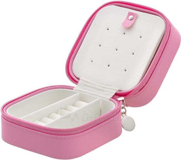 Papuošalų dėžutė Beneto Bright pink travel jewelry box Paveikslėlis 3 iš 4 310820204569