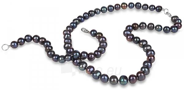 Papuošalų komplektas JwL Luxury Pearls Jewelry set of genuine blue pearls JL0370 Paveikslėlis 2 iš 4 310820126789