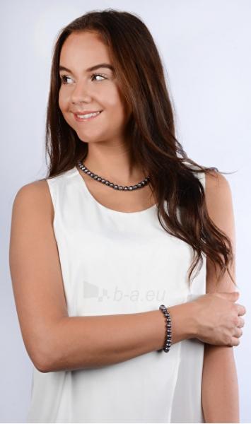 Papuošalų komplektas JwL Luxury Pearls Jewelry set of genuine blue pearls JL0370 Paveikslėlis 3 iš 4 310820126789