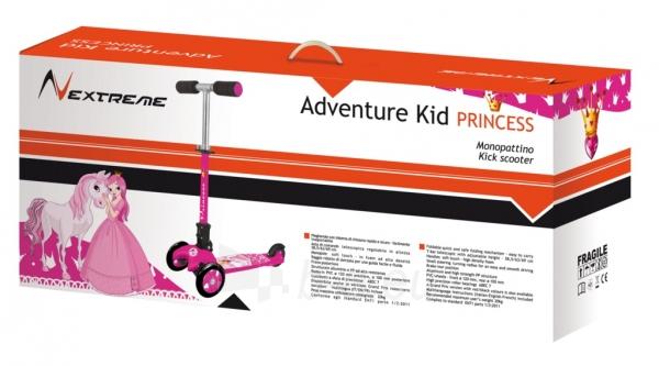 Vaikiškas paspirtukas NEXTREME ADVENTURE KID PRINCESS 3 ratu Paveikslėlis 3 iš 3 310820235853