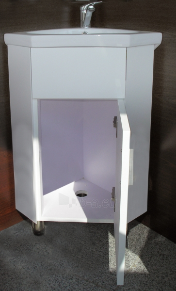Builded corner cabinet with wash basin and mirror SV 015 Paveikslėlis 1 iš 3 30057400056
