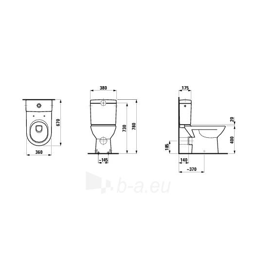 Pastatomas tualete Laufen Pro Paveikslėlis 1 iš 2 270713000487