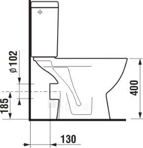 Pastatomas unitazas Lyra plus horizontals Paveikslėlis 3 iš 4 270713000494