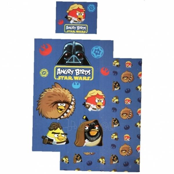 Patalynės komplektas ''Angry Birds paukšteliai'', 2 dalių, 140x200 cm Paveikslėlis 1 iš 2 30115700461