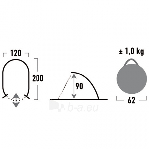 Pavėsinė High Peak Calobra 10002 Paveikslėlis 3 iš 3 310820179997