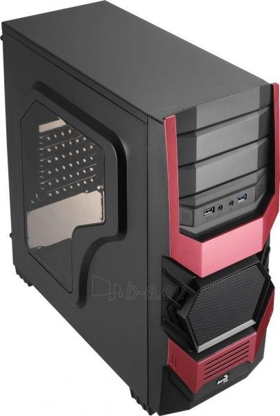 PC korpusas AeroCool ATX PGS CYCLOPS ADVANCE RED, USB3 Paveikslėlis 1 iš 8 310820067020
